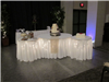 Lighted cake table for a wedding reception